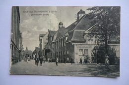 CPA ALLEMAGNE HESSE RUESSELSHEIM. Darmstadter Strabe. 1919. - Ruesselsheim