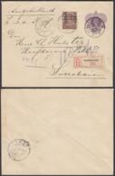 Indes Néerlandaises 1911 - Entier Postal Registered De Soekaboemi Vers Saerabaia  Ref. (DD) DC-MV-293 - Indes Néerlandaises