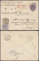 Indes Néerlandaises 1909 - Entier Postal Registered De Tjimahi Vers Belgique  Ref. (DD) DC-MV-294 - Indes Néerlandaises