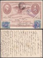 Guatemala 1895 - Entier Postal Illustré Vers Brusselles - Belgique Ref. (DD) DC-MV-334 - Guatemala
