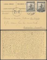 Congo Belge 1945-Carte Postale  Par Avion De Léopoldville Vers Bruxelles. Guerre 40/45.  Ref. (DD)  DC-MV-341 - Congo Belge - Autres