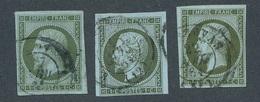 "CG-15: FRANCE: Lot ""NAPOLEON III"" Avec N°11 Obl (3 Teintes) - 1853-1860 Napoléon III"