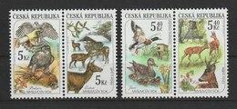 MiNr. 270 - 273  Tschechische Republik / 2000, 4. Okt. Jagd Und Wildpflege Im Verlauf Der Jahreszeiten. - Tschechische Republik