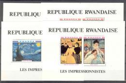 COB BL86/89 Schilderijen-Tableaux 1980 MNH-postfris-neuf - Rwanda