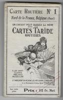 BELGIQUE - NORD DE FRANCE - Carte TARIDE  - Sur TOILE - N°1 - Cartes Routières
