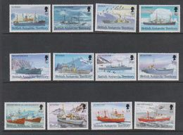 British Antarctic Territory 1993 Definitives / British Antarctic Ships 12v ** Mnh (40938A) - Ongebruikt