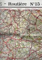 AUVERGNE - LIMOUSIN  - Carte Routière - Carte TARIDE - N°15 - Cartes Routières