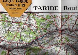 TOURAINE  - BERRY  - Carte Routière - Carte TARIDE - N°12 - Cartes Routières
