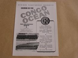 CHEMINS DE FER CONGO OCEAN Compagnie Internationale Wagons Lits CIWL Afrique Equatoriale Française Publicité Originale - Advertising