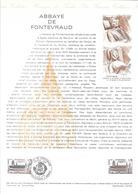 DOCUMENT OFFICIEL N° 28/78 ABBAYE DE FONTREVAUD - COTE 2009 = 5.00 € - Documents De La Poste