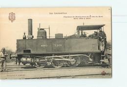 Cie Du Nord : Machine De Manoeuvres Série 3908. TBE. 2 Scans. Les Locomotives, Edition Fleury - Matériel