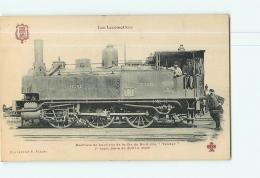 Cie Du Nord : Machine De Banlieue 3010 Dite Tender 1er Type.  TBE. 2 Scans. Les Locomotives, Edition Fleury - Matériel