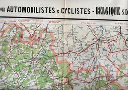 BELGIQUE  - Carte Pour Automobilistes Et Cyclistes - Avec Le Concours De Mr ARTIGES - Services Des Excursions - Cartes Routières
