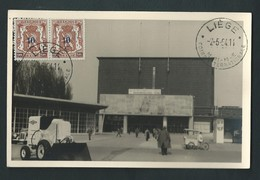 Liège.Coronmeuse. Photo Carte Palais Des Fêtes En1954 Lors D'une Foire. Le Même Endroit En 1939 Expo De L'eau. 2 Cartes. - Liege