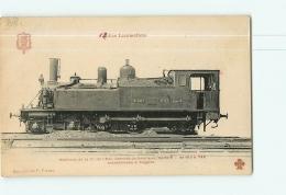 Cie De L'Est : Machine Service De Banlieue 687 Série B Transformée. 2 Scans. Les Locomotives, Edition Fleury - Matériel