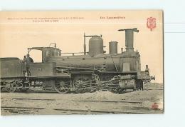 Cie D'Orléans : Machine Trains Marchandises 857. 2 Scans. Les Locomotives, Edition Fleury - Matériel