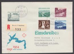 """597/601, """"Pro Patria"""", 1954, R-FDC Nach Deutschland, Mit Ankunft - Schweiz"""