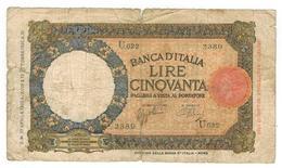 Italy 50 Lire, Used, See Scan. - [ 1] …-1946 : Koninkrijk