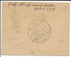 SOMALIS - FRANCE LIBRE TROUPES COLONIALES (RARE CACHET) - 1945 - ENVELOPPE RECO AVION De DJIBOUTI CENSUREE => MARSEILLE - Lettres & Documents