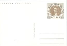 POSTKARTE  POLONIA  ISSAC NEWTON - Astrología