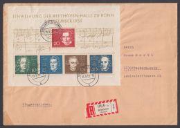 "Block 2 ""Beethoven-Halle"", EF Auf R-Brief - BRD"