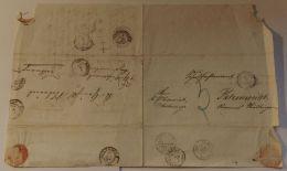 4fach Verwendeter Brief Mit Text, 1868, Diverse Stempel, Ansehen! - Wuerttemberg