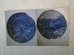 Dupondius Tête Adossée D'august Et D ' Agrippa Revers / Crocodile Col Nem Groupe III - Romaines