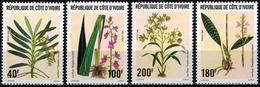 MBP-BK26-355  MINT ¤ COTE IVOIRE 1996 4w In Serie ¤ FLEURS - ORCHIDS OF THE WORLD - ORCHIDEE - FLEURS BLÜMEN FLORES - Orchidées