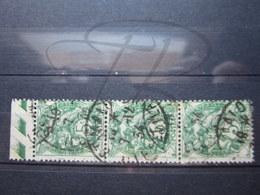 """VEND BEAUX TIMBRES DE FRANCE N° 111 EN BANDE DE 3 , CACHETS """" ST-MALO """" !!! - 1900-29 Blanc"""