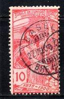 221 490 - SVIZZERA 1900 , UPU 10 Cent Unificato N. 87 Usato . - Oblitérés
