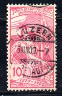 232 490 - SVIZZERA 1900 , UPU 10 Cent Unificato N. 87 Usato . - Oblitérés