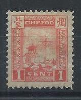 1893 CHINA CHEFOO TREATY PORTS 1 CENT UNUSED RED Chan LC2 Cv $9 - Chine