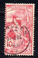 411 490 - SVIZZERA 1900 , UPU 10 Cent Unificato N. 87 Usato . - Oblitérés