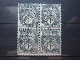 """VEND BEAUX TIMBRES DE FRANCE N° 107 EN BLOC DE 4 , CACHET """" AMIENS """" !!! - 1900-29 Blanc"""
