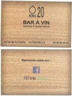 Carte De Visite - Ô Bons 20 - Bar à Vin : Service à Toute Heure - La Rochelle - Cartes De Visite