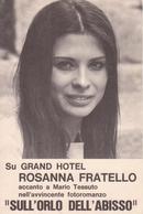 ROSANNA FRATELLO Con MARIO TESSUTO Su GRAND HOTEL - Fotoromanzo SULL'ORLO DELL'ABISSO - Musique Et Musiciens
