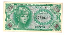 U.S.A. Military Payment Certificate, 10 Cents, Series 641, VF/XF. - Military Payment Certificates (1946-1973)
