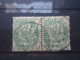 """VEND BEAUX TIMBRES DE FRANCE N° 111 EN PAIRE , CACHETS """" DAMERY """" !!! - 1900-29 Blanc"""