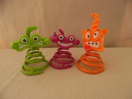 Kinder Surprise  Monstres A Ressort K02 N°81 , K02 N°82 , K02 N°83 - Kinder & Diddl