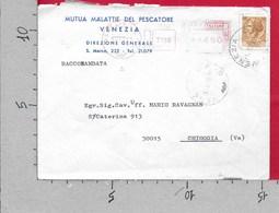 BUSTA VG ITALIA - RACCOMANDATA ATM - Siracusana £ 30 Mutua Pescatore - 11 X 15 - ANN. 1979 VENEZIA MECCANICA ROSSA - Affrancature Meccaniche Rosse (EMA)