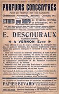 BUVARD PARFUMS CONCENTRES E. DESCOURAUX - ALMANACH HACHETTE 1901 - Parfums & Beauté