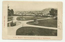 NAPOLI - PANORAMA DAL PALAZZO REALE DI CAPODIMONTE  VIAGGIATA FP - Napoli