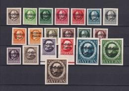 Bayern - 1920 - Michel Nr. 116/135 II B - Bayern