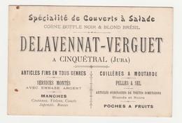 Delavennat-Verguet.Cinquetral.Carte De Visite. - Cartes De Visite