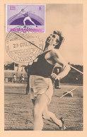 D35425 CARTE MAXIMUM CARD 1955 SAN MARINO - ATHLETICS JAVELIN CP ORIGINAL - Athletics