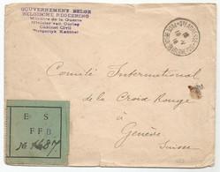 Belgique Belgie Allemagne France Lettre Sainte Adresse Le Havre 19.05.1916 Genève Croix - Rouge - Guerre 14-18
