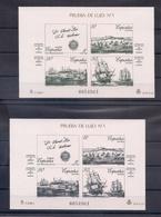 ESPAÑA 1987 - PRUEBAS EXPOSICION FILATELICA ESPAMER 87 - EDIFIL Nº 12-13 (MISMA NUMERACION) - 1931-Hoy: 2ª República - ... Juan Carlos I