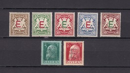 Bayern - Dienstmarken - 1908/12 - Michel Nr. 1/5 + 7/8 - Bayern