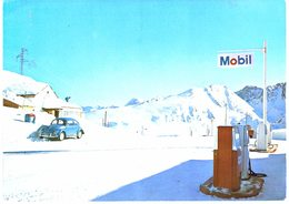 Andorre - Andorra - Port D'Envalira - Station Essence - Pompe - Pub Mobil - Voiture Coccinelle - Andorra