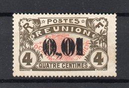 !!! PRIX FIXE : REUNION, N°83b SURCHARGE DOUBLE NEUF CHARNIERE LEGERE - Réunion (1852-1975)